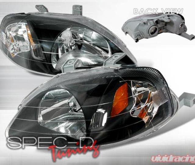 Specd Black Housing Headlights Honda Civic Lh Cv99jm Ks