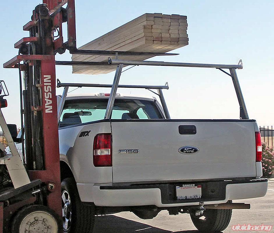 us rack clipper truck bed rack brushed aluminum stainless steel nissan titan 08 18