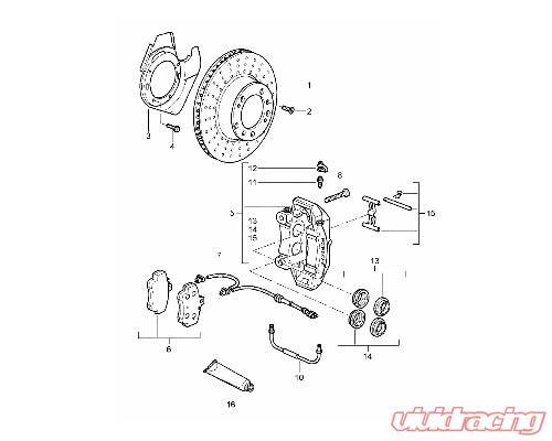 OEM Front Cross Drilled Brake Rotor Set Porsche Boxster