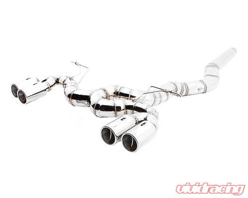 meisterschaft stainless steel super gt racing ultimate performance exhaust system with 4x90mm round split bmw 328i f30 12 16