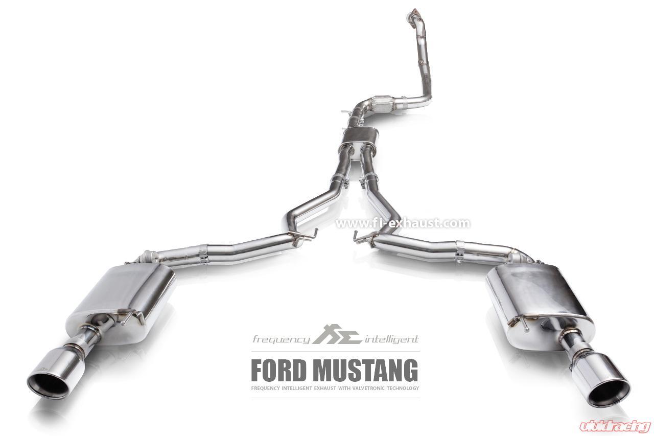 fi exhaust valvetronic muffler kit w standard remote ford mustang mk6 2 3t ecoboost 2015