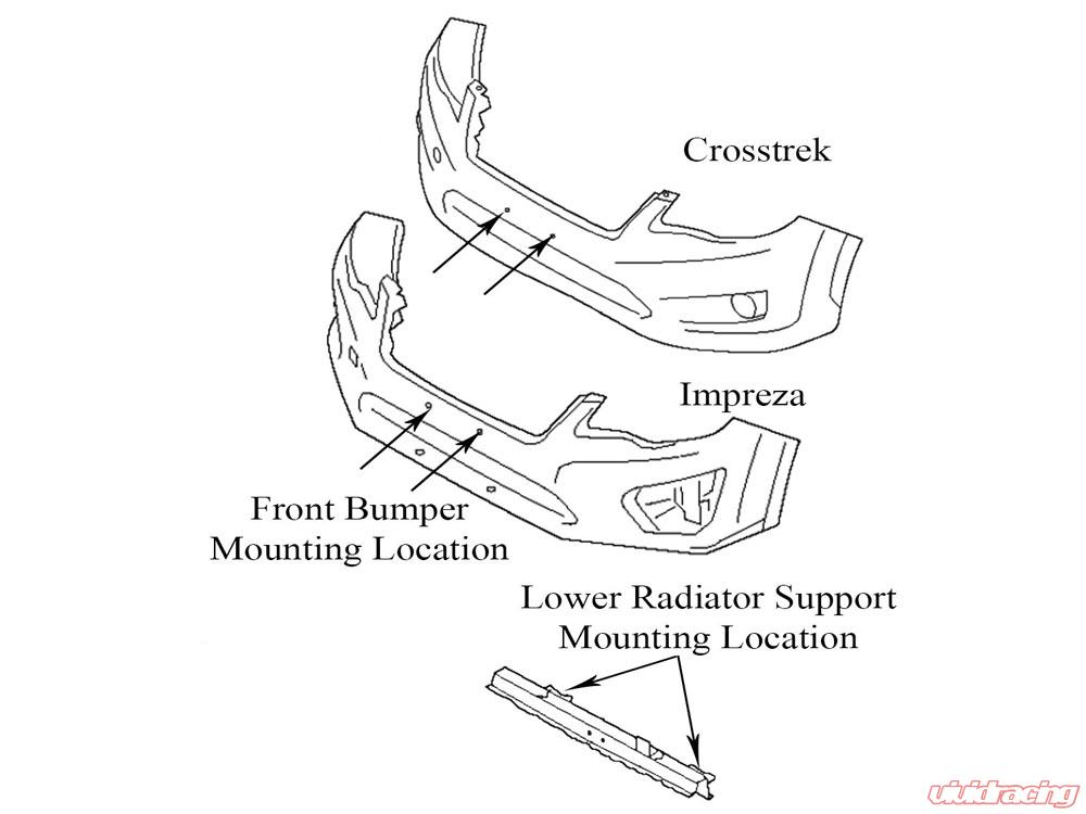 Rally Innovations Rally Light Bar Subaru Crosstrek XV