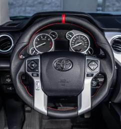 toyota tundra 4runner tacoma oem steering wheel carbon fiber white stitching vr  [ 1300 x 1040 Pixel ]
