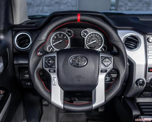 small resolution of toyota tundra 4runner tacoma oem steering wheel carbon fiber white stitching vr