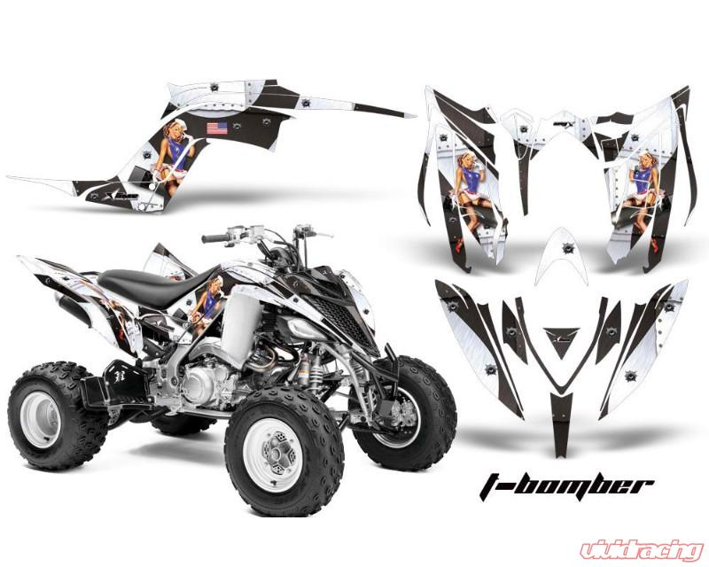 AMR Racing Graphics Kit Decal Sticker Wrap TBOMBER WHITE