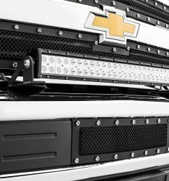 front bumper top led light bar mount kit w 30 inch led light bar 15 [ 2397 x 1600 Pixel ]