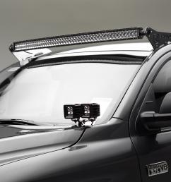 front roof led light bar mount kit 2007 2017 tundra w 50 inch curved [ 2400 x 1600 Pixel ]