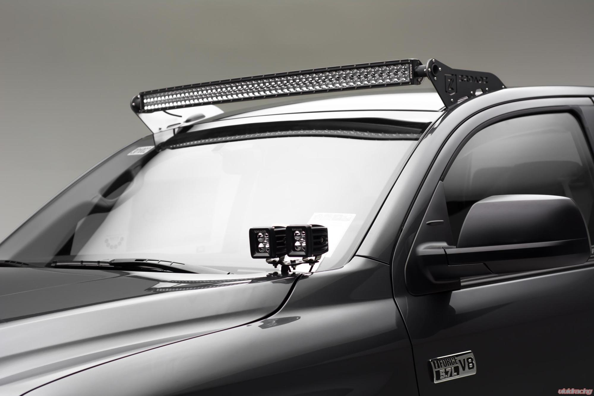 hight resolution of front roof led light bar mount kit 2007 2017 tundra w 50 inch curved