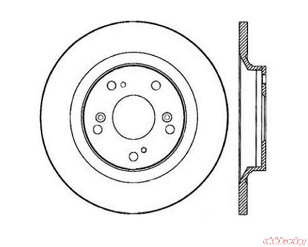 StopTech Sport Slotted Brake Rotor Rear Right Honda S2000