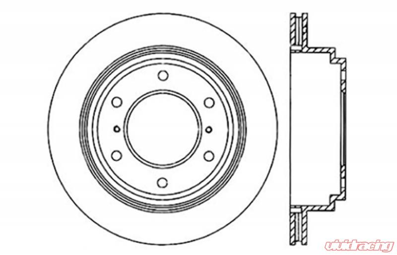 StopTech Sport Drilled/Slotted Brake Rotor; Rear Left