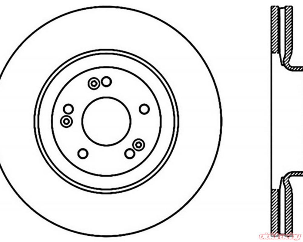 StopTech Sport Cross Drilled Brake Rotor; Front Left