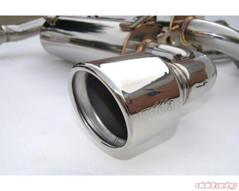 invidia gemini catback exhaust rolled stainless steel tips infiniti g35 coupe 2003 2006
