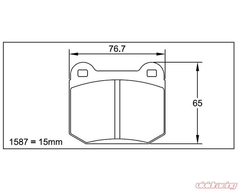 Pagid RS 14 Black Rear Brake Pads Subaru STI 03+