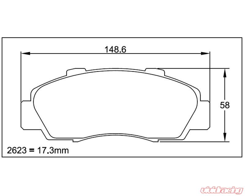 Pagid RS 4-2 Blue Front Brake Pads Acura NSX 90-05