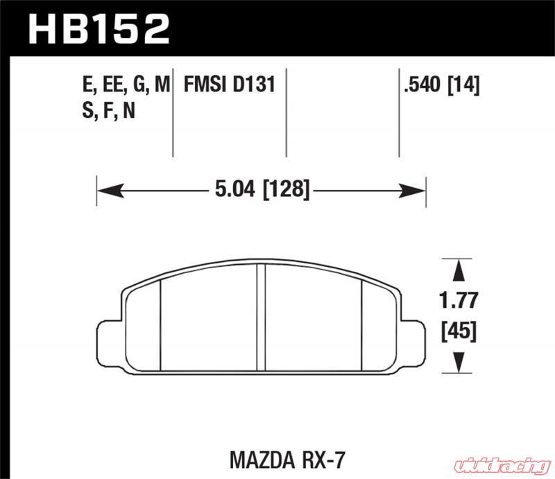 Hawk HPS Front Brake Pads Mazda RX7 86-92