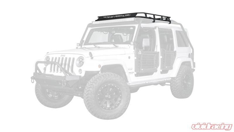 body armor 4x4 overland roof rack jeep wrangler 2 door 07 18