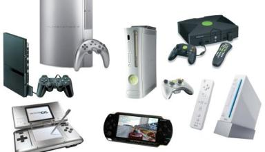 Games console, console games