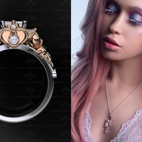 Los hermosos anillos de compromiso de sailor moon para una boda perfecta