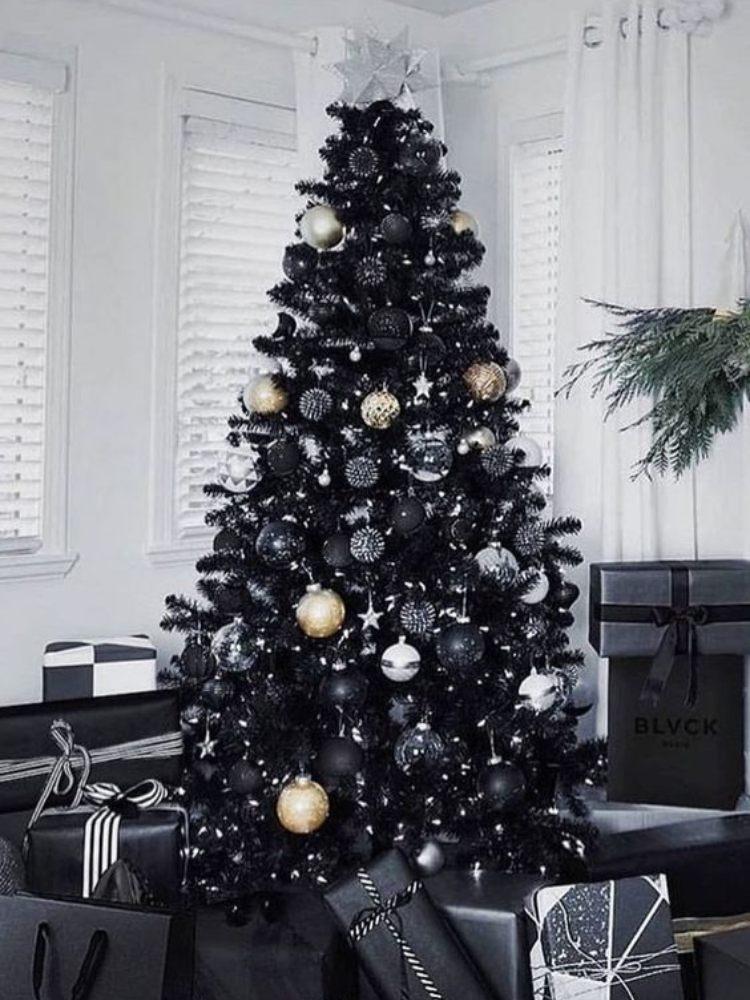 árboles de navidad negros
