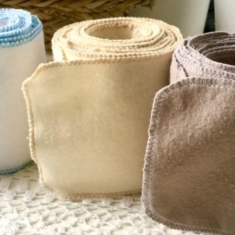 Rollos de papel higiénico reutilizable
