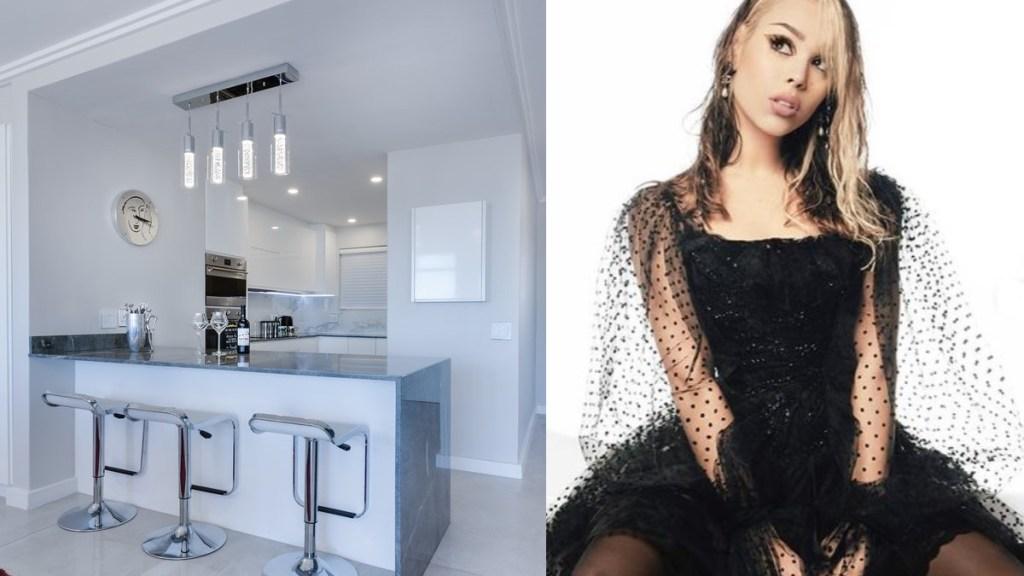 danna paola y su lujosa cocina en su nueva casa