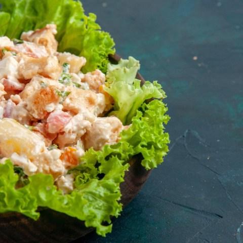 ensalada de pollo verduras receta facil nutritiva