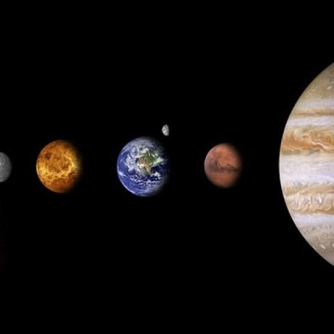 planetas sistema solar alineación luna fenómenos astronómico