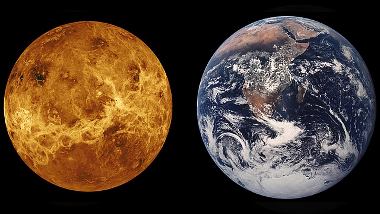 conjunción venus sol tierra planetas día amor