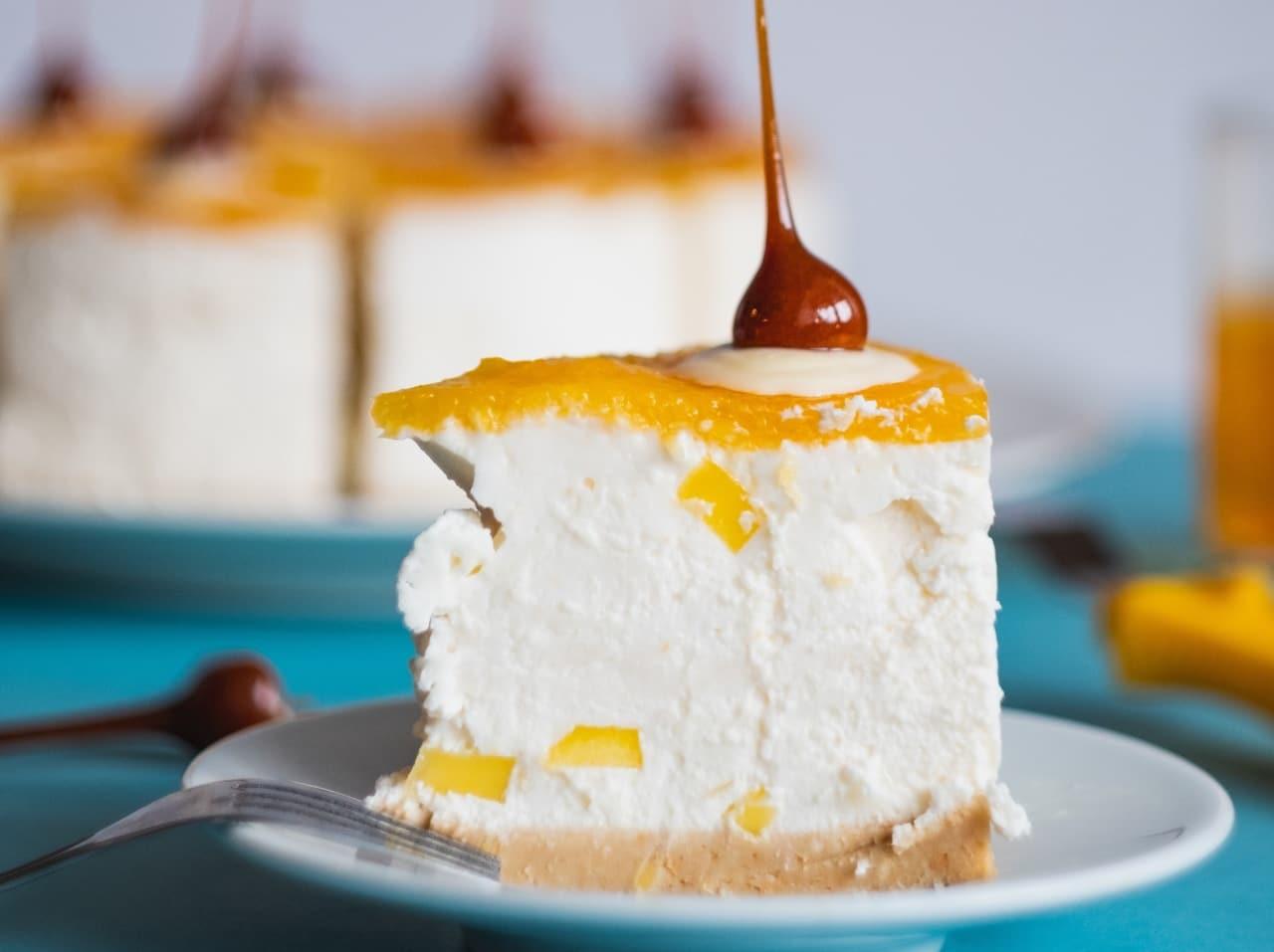 pay de mango con queso crema receta