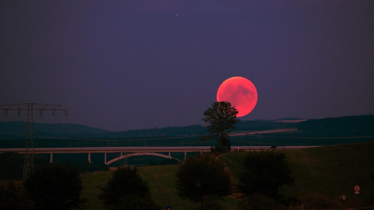 cuando donde ver superluna luna de sangre 2021