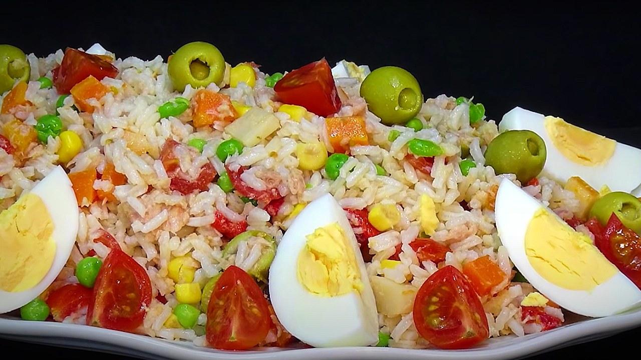 receta para ensalada de arroz nutritiva deliciosa económica