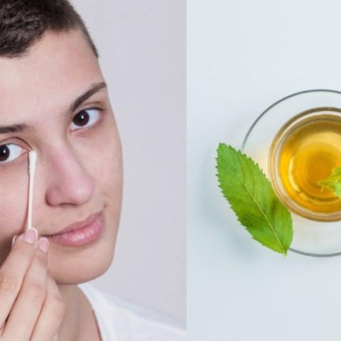 tónico té verde desinflamar ojos cansados