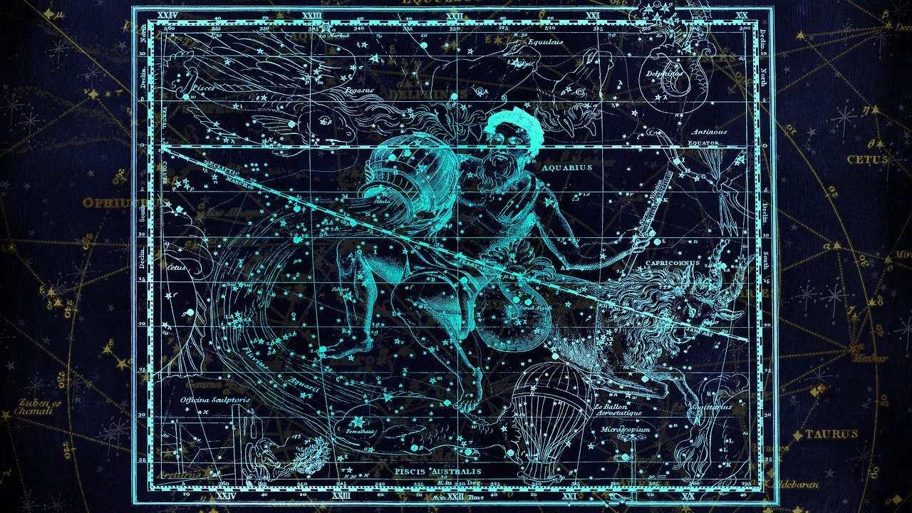 Acuario constelación Luna menguante signos del zodiaco