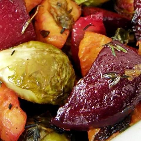 ensalada de verduraz rostizada con cacahuate receta cómo se hace