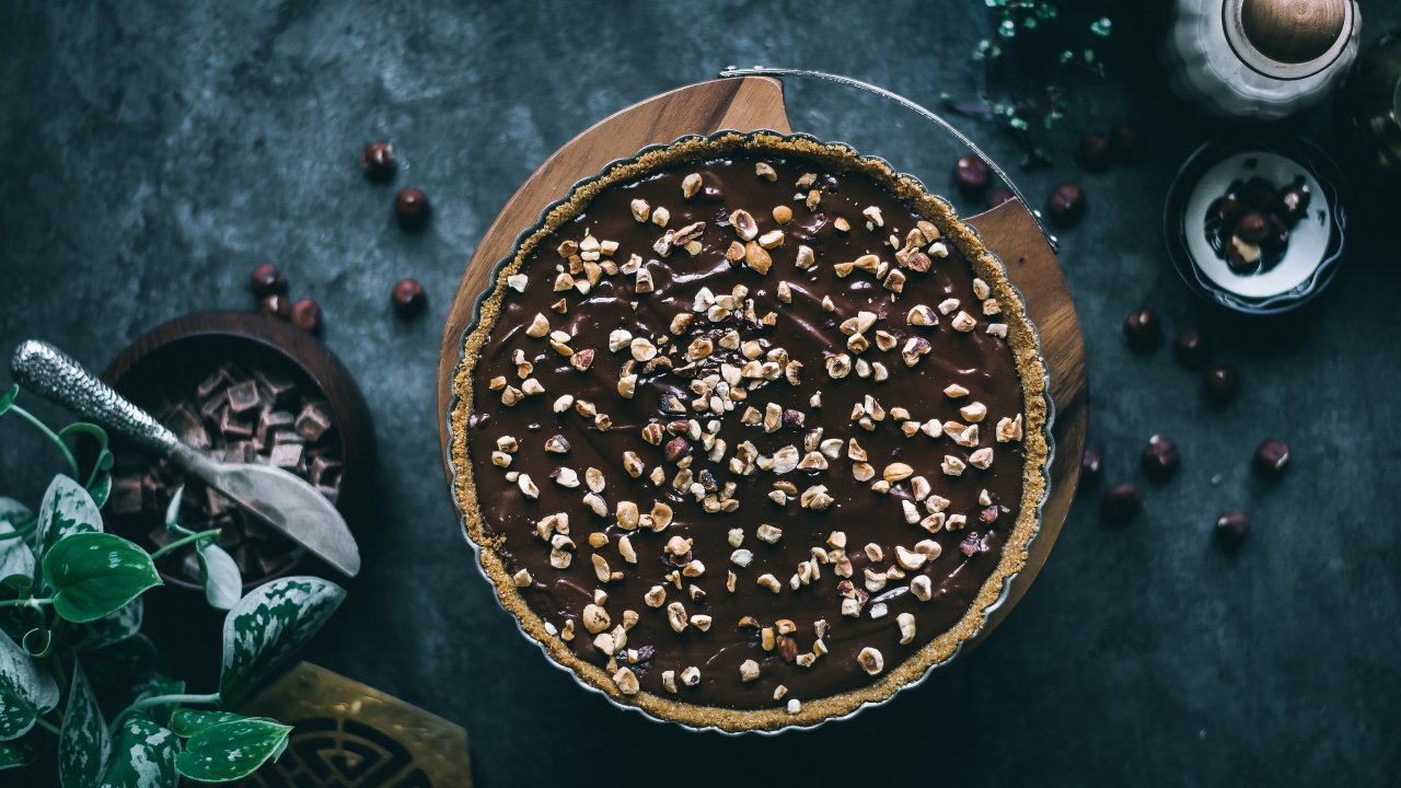 como hacer pay de trufa de chocolate sin horno