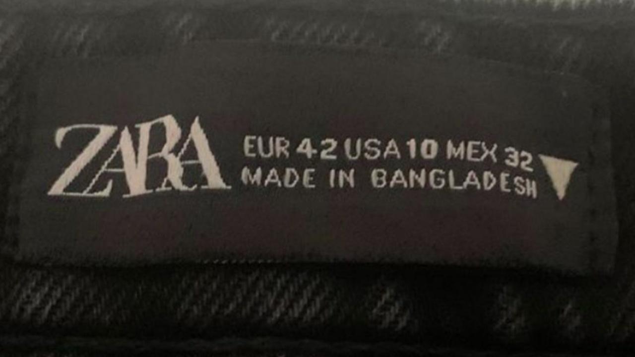 significado etiquetado ropa de zara