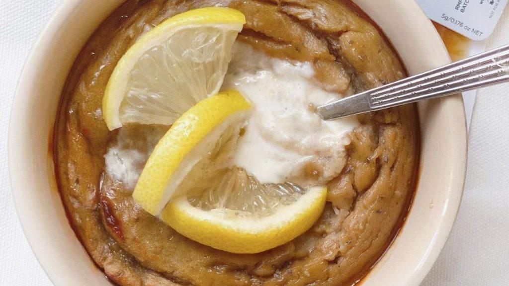como preparar mug cake de limón