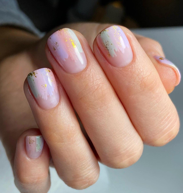 colores pasteles con diseños aesthetic para uñas