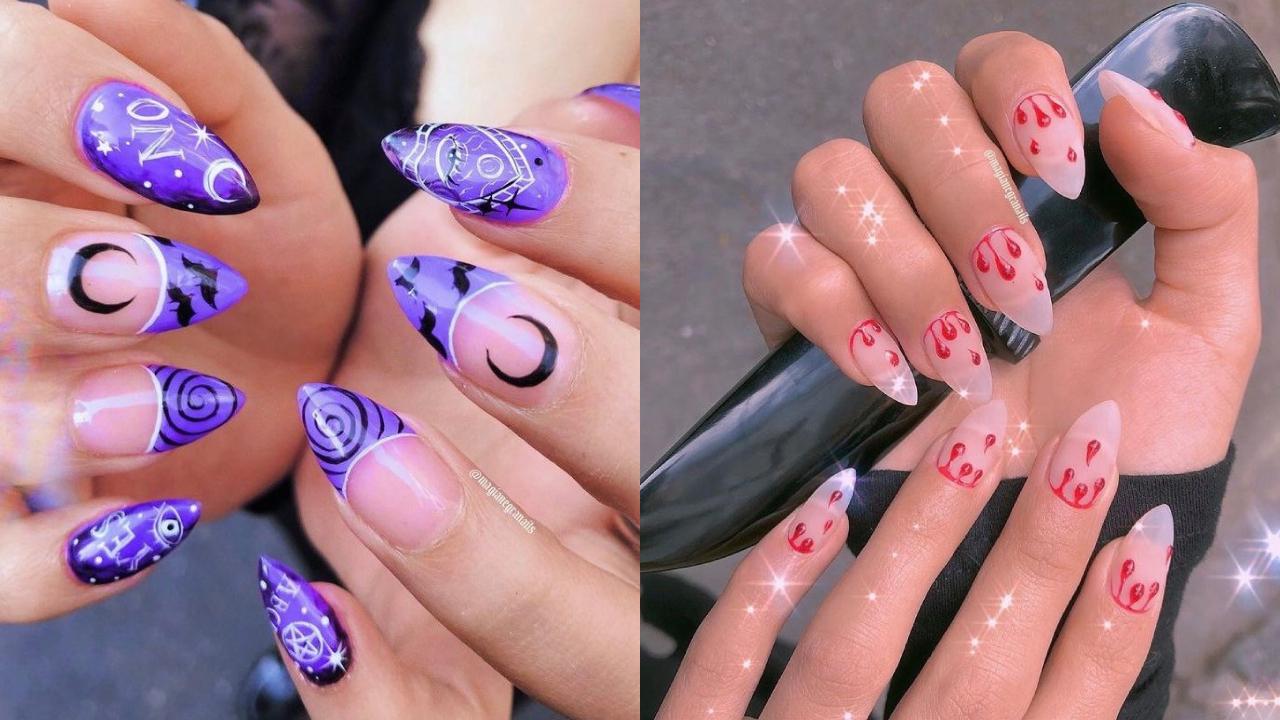 Diseños mágicos de uñas para Halloween