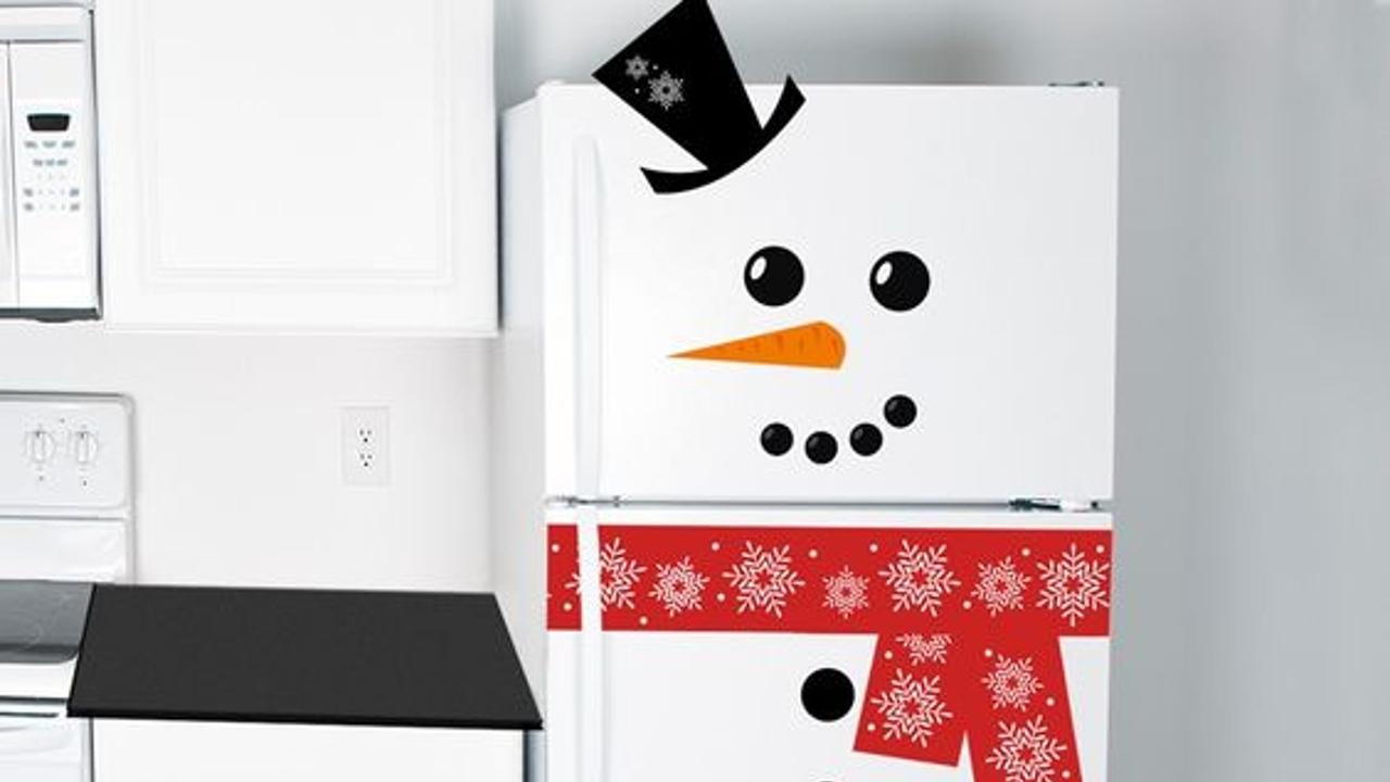 como decorar refrigerador en navidad
