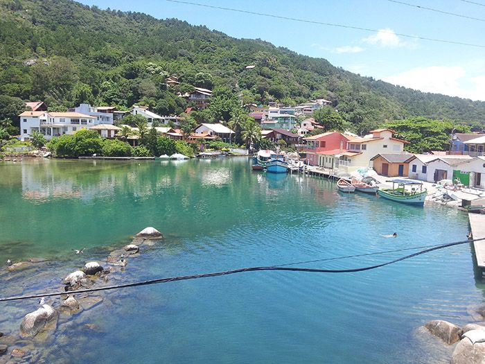 Vistas de Barra do Lagoa, al salir de nuestro hostel.