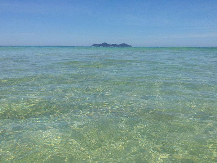 Llegada a la playa de Lopes Mendes