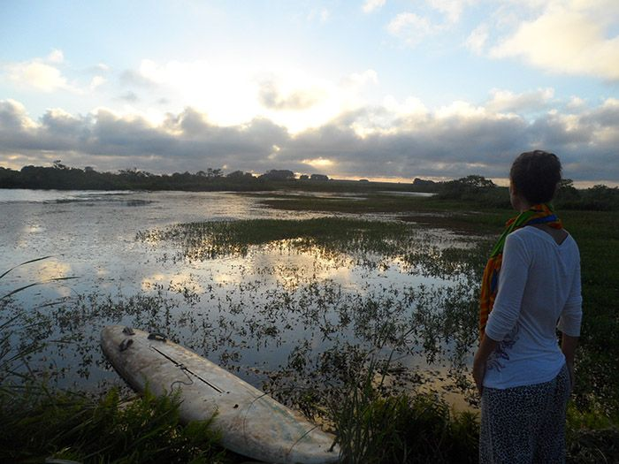 """Puesta de sol espectacular en """"nuestra"""" laguna."""