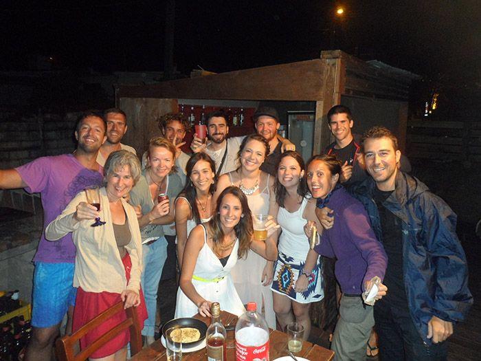 Foto de grupo justo antes de cenar