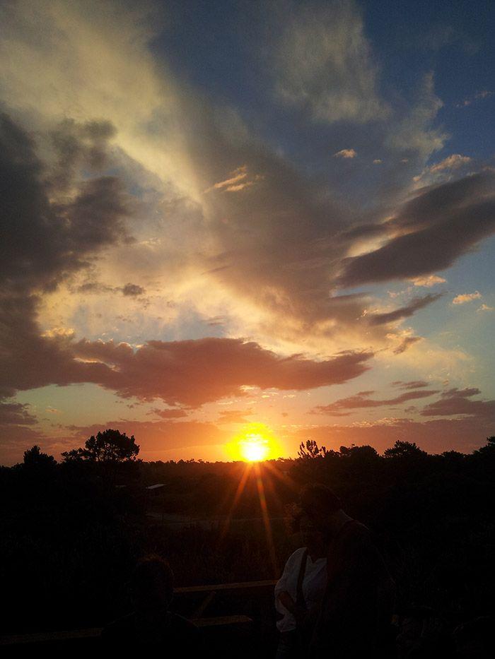 Puesta de sol en Punta del Diablo