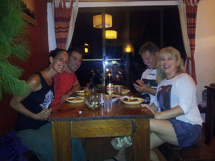 Cena con Valmor y Maria, una pareja muy agradable