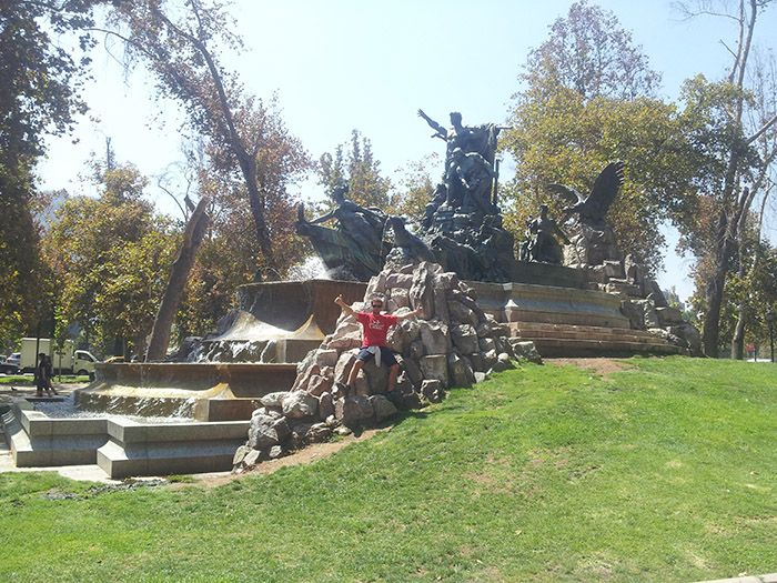Parque Forestal en Santiago de Chile