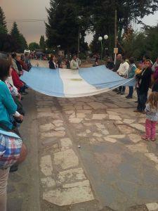 Marcha de protesta en El Bolsón