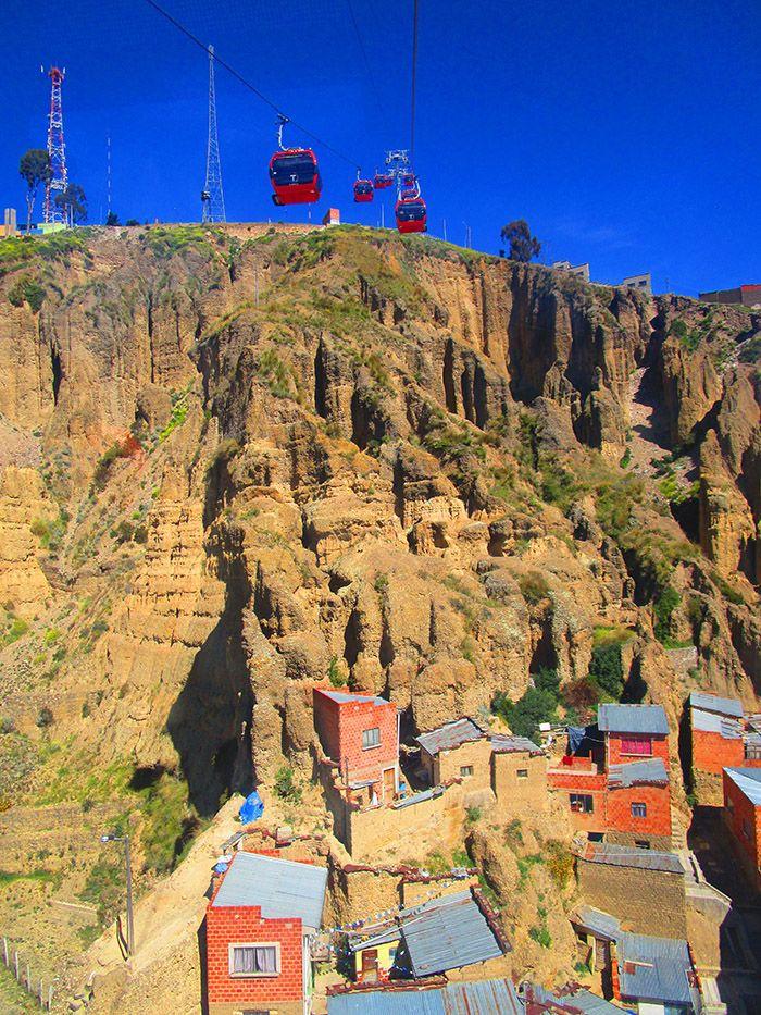 Subiendo en telesilla hacia el barrio de El Alto