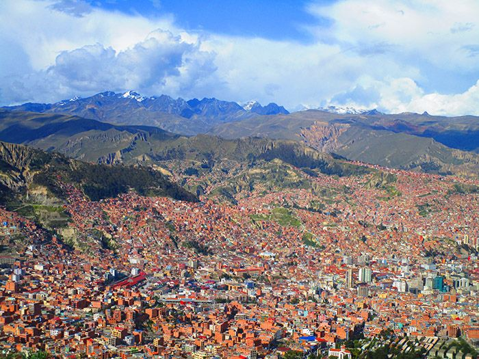 Vistas de La Paz desde El Alto